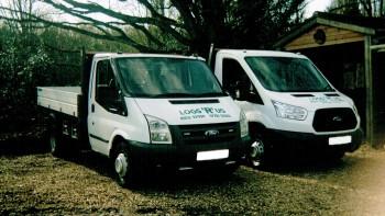 Logs R Us flatbed vans